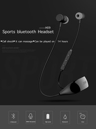 Wholesale Bluetooth Sport Headphone Wireless earbuds Headset Stereo and Mic Handsfree hours of talk with Exquisite Retail Box