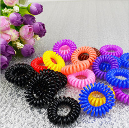 100pcs assorted color Cutie Plastic rubber ponytail Holders hair accessories Elastic hair ties transparent or solid color