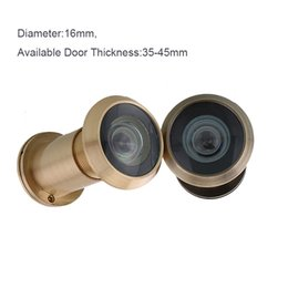 Wholesale gold antique color Chrome plated Degree Wide Angle Viewer Spyphole Door Peephole for home security system