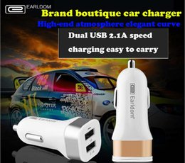 Wholesale Earldom Car Charger Dual USB One Mop Two Cigarette Lighter Adapter A Fast Charge Mobile Smart Universal Car Accessories