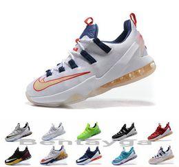 Wholesale Cheap Basketball Ball Shoes - 2017 Men Cheap Lebron 13 Basketball Shoes Sneakers Sports Discount LB 13s James Elite Premium Original Olympic Basket Ball Basketball Shoes