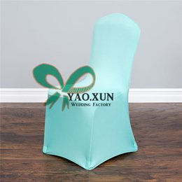 100% Poly Universal Lycra Spandex Chair Cover Wedding Decoration Turquoise Color