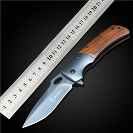 Wholesale Top quatily BrowningDA62 Steel handle Cr13Mov blade acid technological process Liner Lock Folding knife Camping knife Hunting Knife FK A007