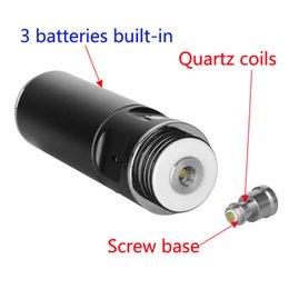 Wholesale E Cigarette big Vapor Top Nail kit Wax vaporizer With Rechargable mAh built in Batteries Dab Tool Quartz Nail Glass Bong