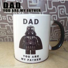 Vente en gros - Drop Shipping, Star Wars- DAD, vous êtes la tasse mignon de mon père Tasses à couleurs changeantes Tasse magique légère Tasse à café Tasses supplier magic star light à partir de lumière magique étoile fournisseurs