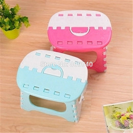 Wholesale Smallest Portable Stool - Wholesale-Plastic folding stool bathroom small bench Child Adult thickening outdoor portable folding stool fishing