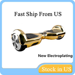 US Stock 2015 Newest Electroplating Colors Smart Self Balancing Electric Scooter Electroplated Chrome Scooter Electric Skateboard for Adults