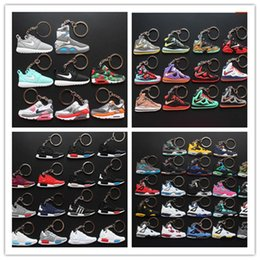 Wholesale Price Basketball Shoes keyChain Birthday Present Halloween Christmas Gifts PVC Car key Chain Pendants Key Rings Pendants Jewelry