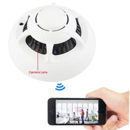Promotion ip ios came HD 1080P Spy caméra IP détecteur de fumée Mini WiFi P2P Network Cam intérieur pour les enfants de sécurité avec détection de mouvement MIC Android / iOS Phone Control