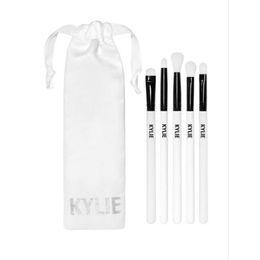 Wholesale Kylie Brush Set Limited Edition Holiday Collection Kylie Jenner Cosmetics Makeup Brushes Set Kit Foundation Powder Face Brush Gift Bag