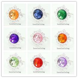 20 colors--100pcs Purple Color Gem Napkin Ring Wedding Bridal Shower Favor Napkin holder FOR Wedding Supplies