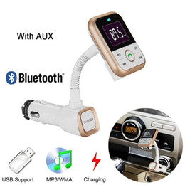 Wholesale New Arrival Wireless Bluetooth FM Transmitter Car Kit Radio Receiver with V A USB Charger output Support USB Flash Driver