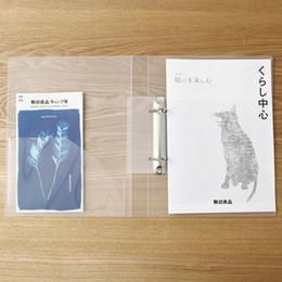 Descuento a4 aglutinantes de anillos MUJI Transparente PP 2 Agujeros Carpeta de Anillo Clip Archivo A5 B5 Carpeta de Archivo A4 Japón Precios al por mayor