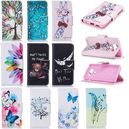 Bear Tree Butterfly Cover Cartoon Wallet Leather Pouch Case for LG k3 k8 k10 2017 G6 V20 Samsung A3 A5 J3 Nokia 6