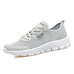 2017 men's fashion leisure to reduce the shock running breathable shoes summer sports Easy to match Flat soles Resistant to wear shoes