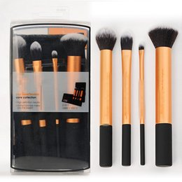 Wholesale 4 set Real Eye Makeup Brushes Set Techniques benefit cosmetics make up brush