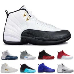 (with box) air retro 12 XII ovo white Black GS barons flu game taxi playoffs wolf grey GS Barons Men Basketball Shoes Sneakers