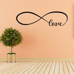 For Infinity Love Faithfulness Quote Funny Wall Stickers Bedroom Sitting Room Removable Vinyl Decals Decorate Diy