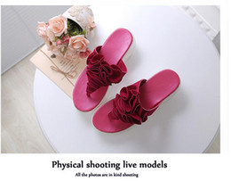 women wedges sandalias plataforma flower high heel summer slippers beach