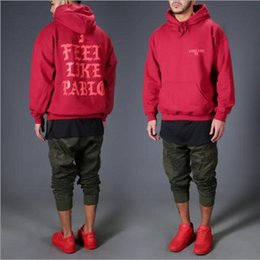 Wholesale Kanye del oeste piensan en los jerseys del hip hop de la marca de fábrica de la ropa de la calle del oeste del pablo Heybig kanye del tercer cuarto colores
