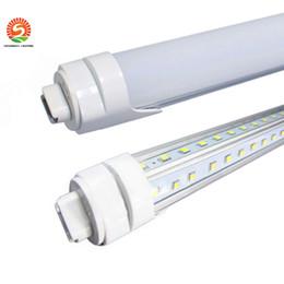 Wholesale 5ft tubes T8 Cooler Door Led Tube ft ft ft ft Dual Rows SMD V Shaped Led Light Tube Angle AC V