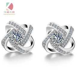 lingdong fashion love Earrings Pure 925-Sterling-Silver Plate AAA Zircon mosaic Earrings For Women Accessories gift Free shipping