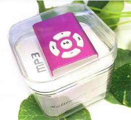 Promotion mp3 mémoire lecteur 1gb Vente en gros Mini clip lecteur mp3 lecteur de sport lecteur mp3 lecteur de carte mémoire avec fente pour carte TF MP3 + USB + écouteur + boîte en cristal