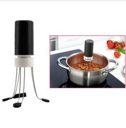Wholesale 1pcs Speed Cordless Stir Crazy Stick Blender Mixer Electric Mixer Blender Soups Automatic Hand Free Kitchen Utensil Food Sauce Auto Stirrer