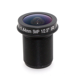 1 2.5 inch f2.0 1.44mm 5MP m12 fisheye lens fixed iris 180 degree cctv camera wide angle lens
