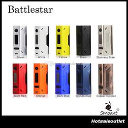 Wholesale Authentic Smoant Battlestar W TC Box Mod Support Ni Ti SS NC TCR Best Match with Smoant Mobula RTA Original DHL Free