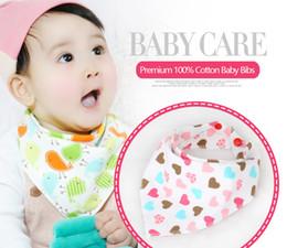 16 Colors Baby INS Fox Bibs Burp Clothes New Cartoon Apron Double Layers Soft Cotton Newborn Burp Cloths Bibs