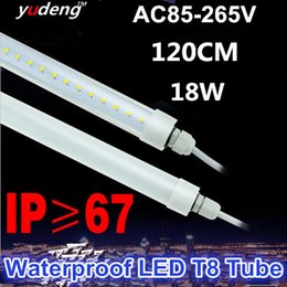 Waterproof LED T8 Tube Light for Outdoor Lighting ,Single End Wired Powered connection,IP67 for outdoor,cooler,freezer,120CM 18W,Freeshiping