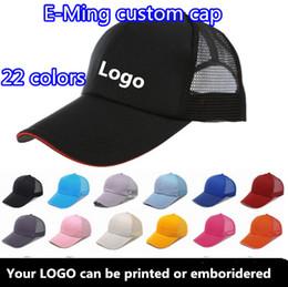 Acheter en ligne Le sport pc-6 panneaux Plain Trucker Casquettes de baseball avec Sandwish réglable Strapback Impression personnalisée logo de broderie pour les adultes Sports Hats MQQ 10 Pcs