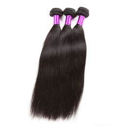 2017 manojos 1b remy brasileño Peruvian Indian Malaysian Mongolian Cambodian Brasileña Virginal Straight Hair Weave Bundles Remy Remy Extensiones de cabello humano Natural Color 1B manojos 1b remy brasileño oferta