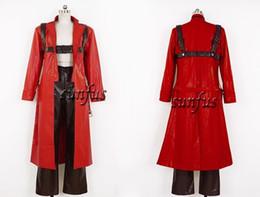 Traje de cuero completo en venta-Devil May Cry Dante juego de cosplay de cuero cosplay completo