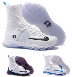 2017 kds blanc Kd 8 Chaussures de basket-ball Chaussures de basket-ball Homme Kevins Kds 8s Elite Hauts Hauts Blanc Durant Tante Pearl Chaussures Zooms Authentiques Chaussures de sport bon marché kds blanc