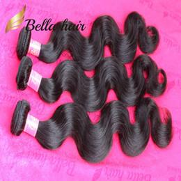 Bella Hair® 8A Natural Black Brazilian Hair Extensions 3 Bundles Unprocessed Human Hair Bundles Queen Brazilian Body Wave Free Shipping