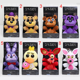 Wholesale 25cm Five Nights At Freddy s toy FNAF Nightmare Fredbear Golden Freddy plush Fazbear Bear foxy Bonnie Chica Plush Toys soft stuffed doll