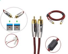 1m 2m 3m 5m - Câble audio stéréo RCA mâle à mâle numérique coaxial blindé pour système de cinéma maison Amplificateur Subwoofer Câble d'extension vidéo à partir de vidéo numérique rca fournisseurs