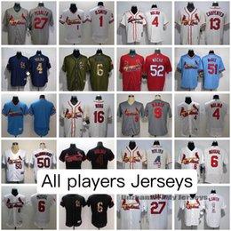 St Louis Cardinals All Jerseys Yadier Molina Ozzie Smith Stan Musial Matt Carpenter Dexter Fowler Stephen Piscotty Adam Wainwright Jersey