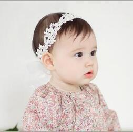 2017 bandas para la cabeza de encaje blanco para bebés El nuevo algodón blanco de las muchachas de Bebe del bebé de los niños de la manera sale de la forma de los accesorios de la venda del pelo de las vendas de Headwear de la cabeza de la forma YH650 presupuesto bandas para la cabeza de encaje blanco para bebés