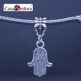 CasaPandora Silver-colored Buddha Hamsa Hand Shape Pendant Fit Bracelet Charm DIY Bead Jewelry Making Pingente Berloque Wholesale Price Free
