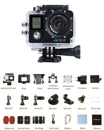 Wholesale 1 Action Camera K FPS Wifi Double screen Ultra HD MP M Waterproof Mini Cam Go Extreme Sport Pro Camera Beyond A1