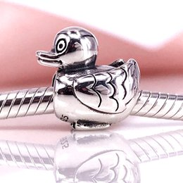 Authentic 925 Sterling Silver Ducky charm Fit DIY Pandora Bracelet And Necklace 790955
