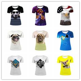 2017 американские собаки Оптовая Женская Повседневная Верхняя Hipster Dog, Космическая Собака Пиццы, Мопс, Осьминог, Be Your Own Hero Tattoo, Американский Флаг / Bald Eagle Printing T shirt американские собаки для продажи