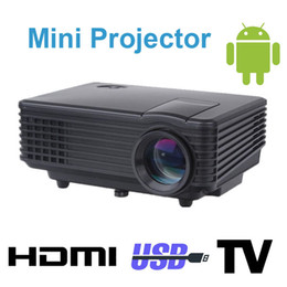 Wholesale Lumens Portable Smart HD TV LED technology digital Projector Built in Andriod OS System for Video Home Cinema Theater