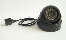 Promotion dôme intérieur caméras ip Câble de sécurité maison Full HD Full HD 1080P Mini caméra IP intérieure Mini Dome 2.0MP Réseau IR jour nuit Caméra cctv P2P 24 ir Plug and play Ca