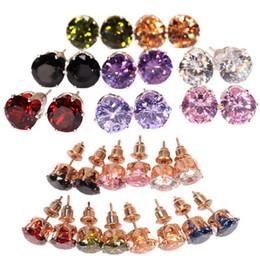 Color low crown Zircon Earrings FZ60
