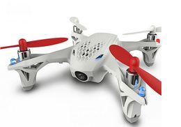 Promotion drones de caméras aériennes F08562 Hubsan X4 H107D 2.4G quadricoptère 4 axes drone avec caméra FPV RC jouets hélicoptère aérienne photographie vidéo RTF