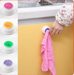 Wholesale Bathroom Kitchen Wash Cloth Towel Clip Holder Dishclout Storage Rack Hook clip holder clip bath room storage hand towel rack KKA1173